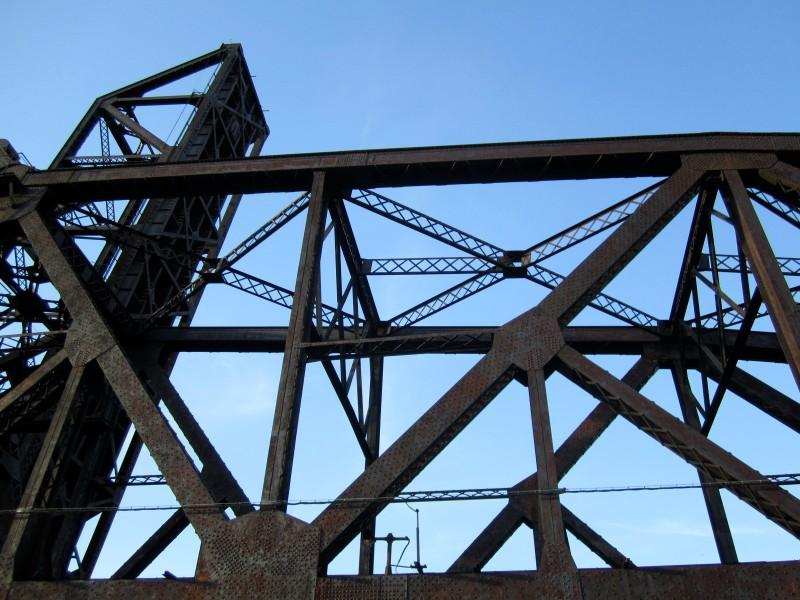 Ironworks over Chicago River