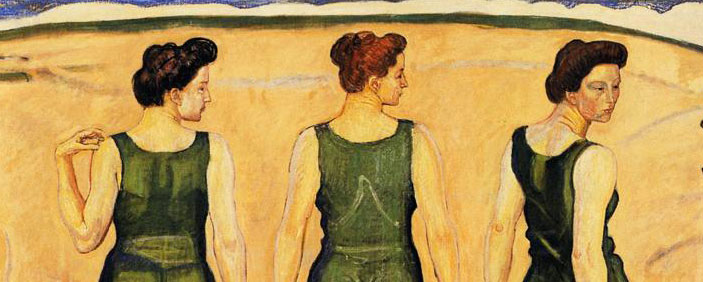 Art Nouveau Youth Admired by Women Ferdinand Hodler