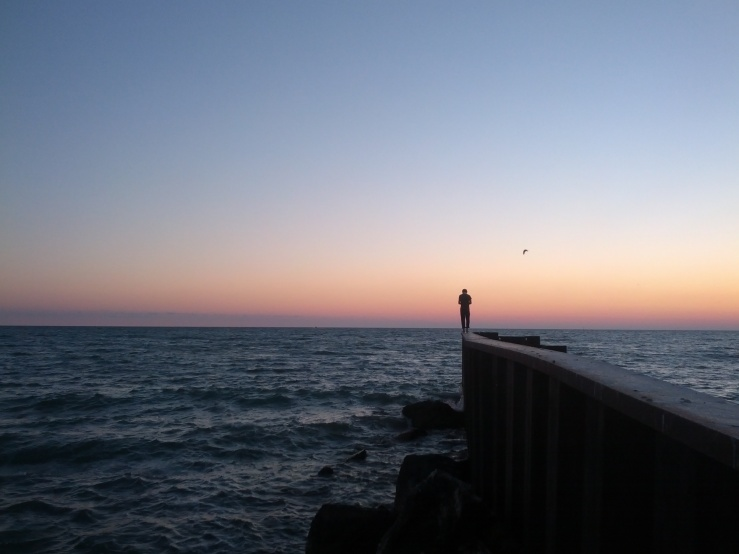 Tanvi and the great wide open. Lake Michigan, you're the greatest.