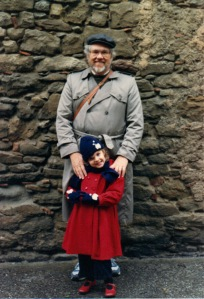 Dad and me (age 4) in Moissac, France, 1988