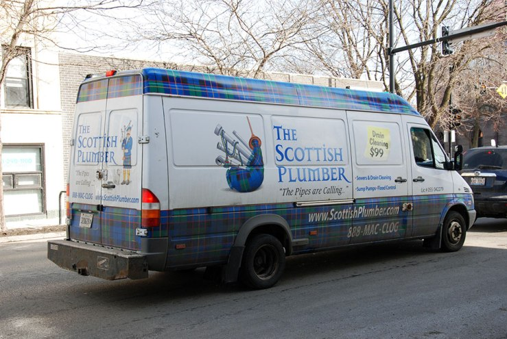 "By which I definitely mean Scottish Plumber, (888) MAC-CLOG, tagline: ""The Pipes are Calling"""